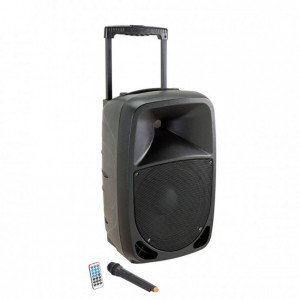 SOUNDSATION GO-SOUND 10AMW MP3 BLUETOOTH MIC VHF CASSA ATTIVA A 2-VIE PORTATILE CON TROLLEY E BATTERIA RICARICABILE