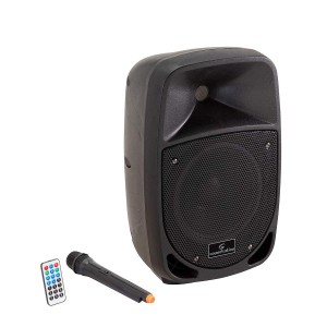 SOUNDSATION GO-SOUND 8AMW MP3 BLUETOOTH MIC VHF CASSA ATTIVA A 2-VIE PORTATILE CON TROLLEY E BATTERIA RICARICABILE