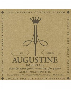 AUGUSTINE IMPERIALS CLASSICAL GUITAR 1 SET BLACK
