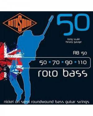 ROTOSOUND ROTO BASS 50-110 LONG SCALE HEAVY GAUGE NICKEL ON STEEL ROUNDWOUND