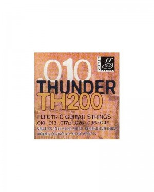 GALLI THUNDER TH 200 ELECTRIC GUITAR STRINGS 010-046 STAINLESS STEEL ROUND WOUND LIGHT GAUGE