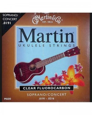 MARTIN UKULELE STRINGS M600 CLEAR FLUOROCARBON 0191-0216