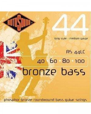ROTOSOUND 44 LONG SCALE MEDIUM GAUGE BRONZE BASS ROUNDWOUND 40-100