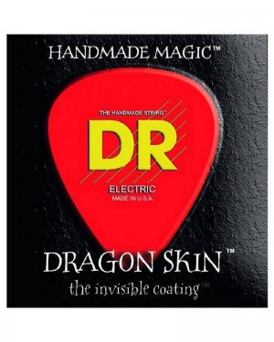 DR ELECTRIC GUITAR STRINGS DRAGON SKIN 10-46 THE INVISIBLE COATING DSE-10