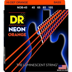 DR NOB-45 HI-DEF ORANGE BASS STRINGS 45-105