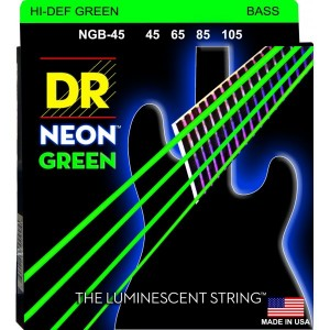 DR NGB-45 HI-DEF ORANGE BASS STRINGS 45-105