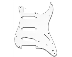 PARTS PLANET BATTIPENNA 3 STRATI SSS STRATOCASTER BIANCO  ST62 WBW