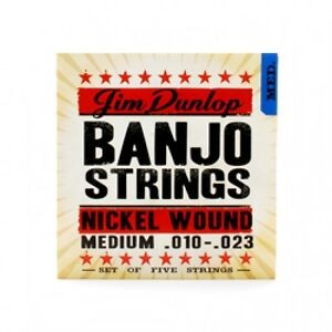 DUNLOP DJN1023 CORDE PER BANJO NICKLE WOUND MEDIUM .010-.023