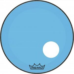 "REMO P3-1322-CT-BU PELLE BATTENTE/RISONANTE POWERSTEROKE 3 COLORTONE TRASPARENTE CASS 22"" BLUE"