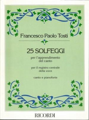 FRANCESCO PAOLO TOSTI 25 SOLFEGGI
