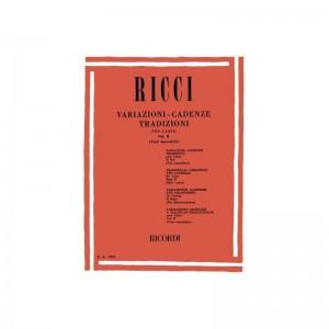L. RICCI - VARIAZIONI - CADENZE TRADIZIONI PER CANTO VOL. 2 VOCI MASCHILI