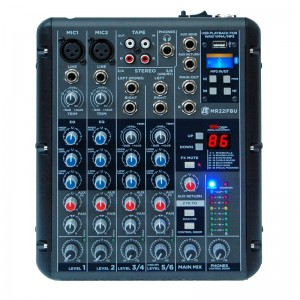 AUDIO TOOLS MR22FBU MIXER PROFESSIONALE 6 CANALI USB/BLUETOOTH