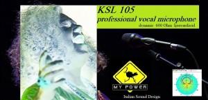 MY POWER KSL 105 MICROFONO PROFESSIONALE DINAMICO IPERCARDIOIDE
