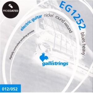 GALLI EG1252 MUTA PER CHITARRA ELETTRICA NICKEL ROUND WOUND BLUES HEAVY PROCOATED