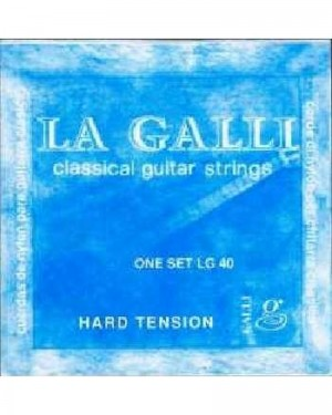 LA GALLI CLASSICAL GUITAR STRINGS HARD TENSION ONE SET LG 40