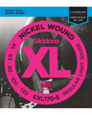 DADDARIO EXL170-5 LONG SCALE 5-STRING 45/130 NICKEL WOUND