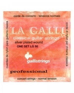 LA GALLI CLASSICAL GUITAR STRINGS LG 50 SILVER PLATED WOUND ONE SET NORMAL TENSION