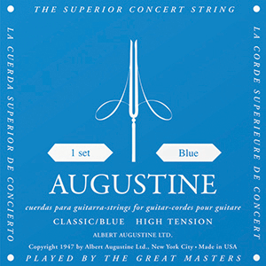 AUGUSTINE CLASSICAL GUITAR STRINGS HIGH TENSION BLUE 1 SET