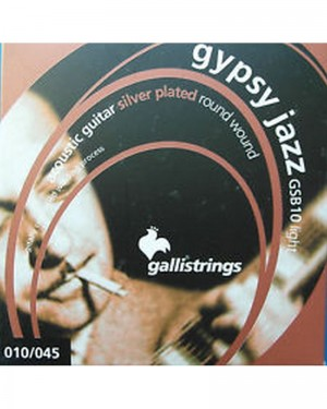 GALLI GYPSY JAZZ GSB 10 LIGHT 010-045 ACOUSTIC GUITAR SILVER PLATED ROUND WOUND