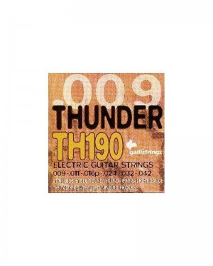 GALLI THUNDER TH190 ELECTRIC GUITAR STRINGS EXTRA LIGHT STAINLESS STEEL ROUND 009-042