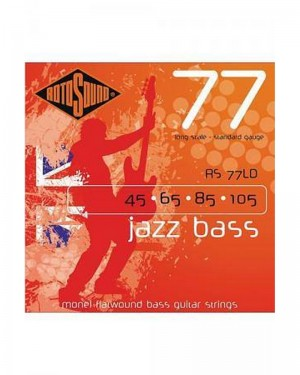 ROTOSOUND 77 LONG SCALE STANDARD GAUGE RS 77 LD 45-105 JAZZ BASS MONEL FLATWOUND