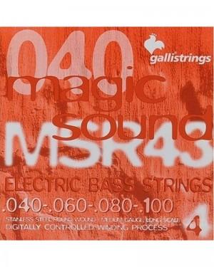 GALLI MSR43 ELECTRIC BASS STRINGS 040-100 ROUNDWOUD REGULAR GAUGE LOMNG SCALE