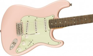 FENDER SQUIER CLASSIC VIBE '60S STRATOCASTER LAUREL FINGERBOARD, SHELL PINK WITH MINT PICKGUARD