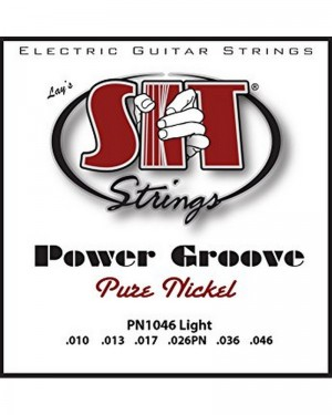 SIT CORDIERA PER CHITARRA ELETTRICA 010-046 POWER GROOVE PURE NICKEL PN1046