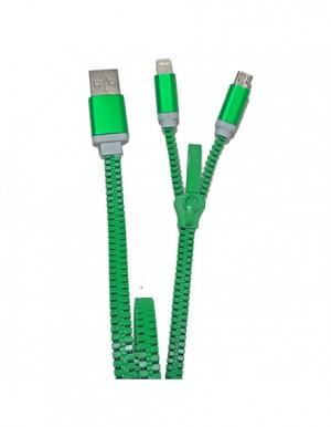 ZZIPP ZZACC2VE CAVO USB 2 IN 1 COLORE VERDE