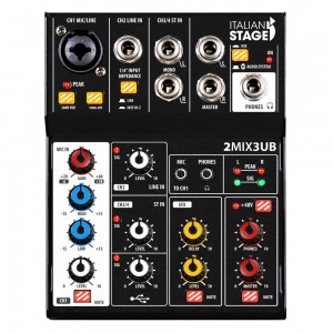ITALIAN STAGE IS 2MIX3UB MIXER USB BLUETOOTH
