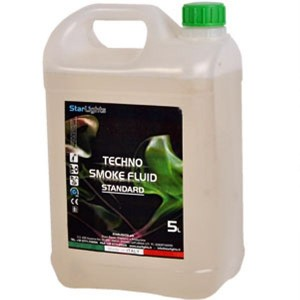 STARLIGHTS TECHNO SMOKE FLUID STANDARD - LIQUIDO PER MACCHINA DEL FUMO 5 LT - MADE IN ITALY -