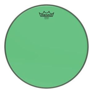 """REMO BE-0310-CT-GN PELLE BATTENTE/RISONANTE EMPEROR COLORTONE TRASPARENTE TOM 10"""" GREEN"""
