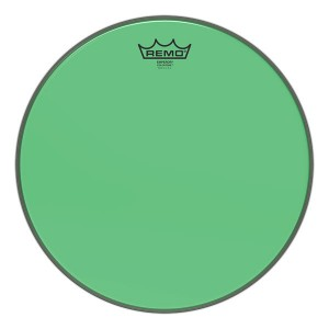 "REMO BE-0314-CT-GN PELLE BATTENTE/RISONANTE EMPEROR COLORTONE TRASPARENTE TOM 14"" GREEN"
