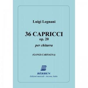 36 CAPRICCI OP 20 - LUIGI LEGNANI - SPARTITI CHITARRA CLASSICA
