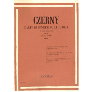 CZERNY L'ARTE DI RENDER AGILI LE DITA 50 STUDI BRILLANTI OP.740 PER PIANOFORTE
