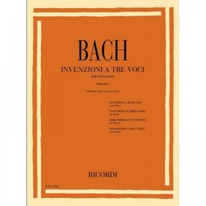 INVENZIONI A 3 VOCI - JOHANN SEBASTIAN BACH - SENZA NOTE IN CALCE - PIANOFORTE