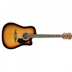 FENDER FA-125CE ACOUSTIC GUITAR DREADNOUGHT SUNBURST